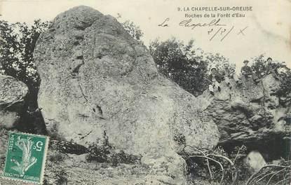 """.CPA  FRANCE 89 """"La Chapelle sur Oreuse, Roches de la forêt d'Eau"""""""