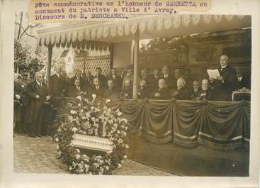 "PHOTO ORIGINALE / FRANCE 92 ""Fête commémorative en l'honneur de Gambetta, Ville d'Avray"""