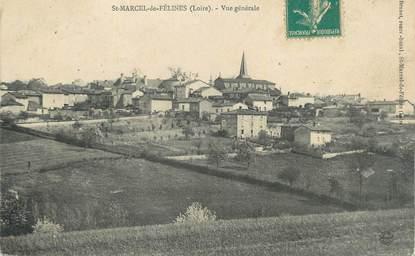 """.CPA FRANCE 42 """" St Marcel de Félines, Vue générale"""""""
