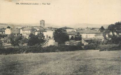 """.CPA FRANCE 42 """"Gresolle, Vue sud"""""""