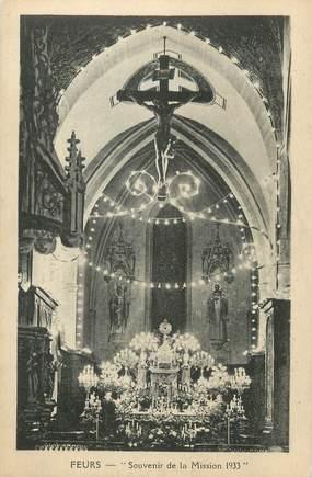 """.CPA FRANCE 42 """" Feurs, Souvenir de la Mission 1933"""""""