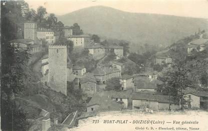 """.CPA  FRANCE 42  """"Mont  Pilat - Doizieux, Vue générale """""""