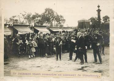 """PHOTO ORIGINALE / THEME """"Poincaré au monument de Strasbourg"""""""