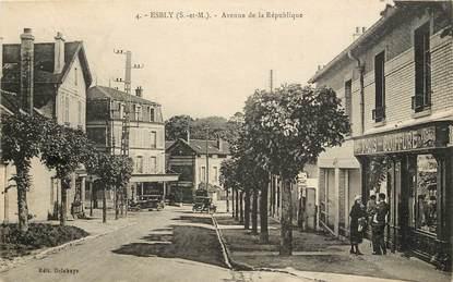 """CPA FRANCE 77  """"Esbly, avenue de la République"""""""
