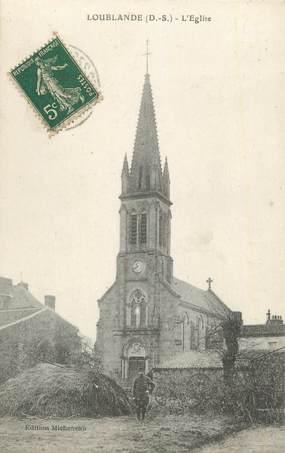 """.CPA  FRANCE 79  """"  Loublande, L'église"""""""