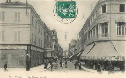 ".CPA  FRANCE 79  ""  Niort, Rue Ricard"""
