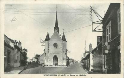 ". CPA  FRANCE 41 Romarantin, Route de Salbris"""