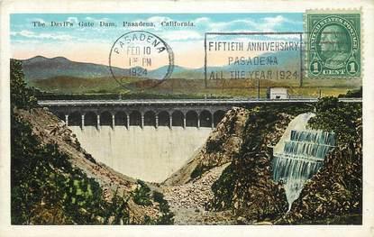 """CPA USA """"Californie, Pasadena, le barrage"""""""