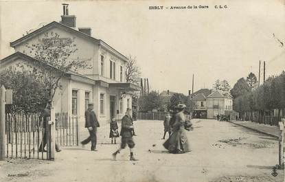 "CPA FRANCE 77  ""Esbly, avenue de la gare"""