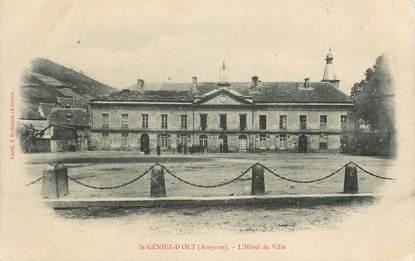 """.CPA FRANCE 12 """"St Geniez d'Olt, L'Hôtel de Ville"""""""