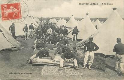 """.CPA FRANCE 12 """"Camp du Larzac, Soldats à la sieste"""""""