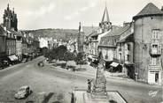 """12 Aveyron .CPSM  FRANCE 12 """"Espalion, Place St Georges et le monument aux morts"""""""