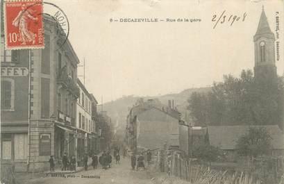 ". CPA  FRANCE 12 ""Decazeville, Rue de la gare"""