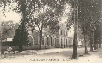 """. CPA FRANCE 12 """"Villefranche de Rouergue, La gare"""""""