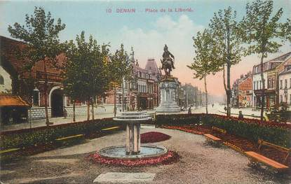 ". CPA FRANCE 59 ""Denain, Place de la Liberté"""