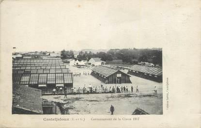 """. CPA  FRANCE 47 """"Casteljaloux, Cantonnement de la classe 1917"""""""