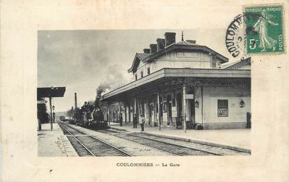 """. CPA FRANCE  77 """"Coulommiers, La Gare"""""""