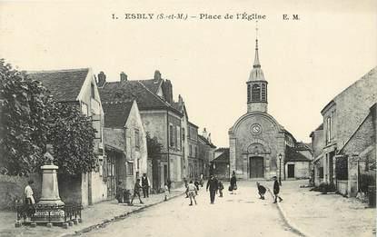 """CPA FRANCE 77  """"Esbly, Place de l'Eglise"""""""