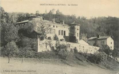 """. CPA  FRANCE  38 """"St Romans, Le château"""""""