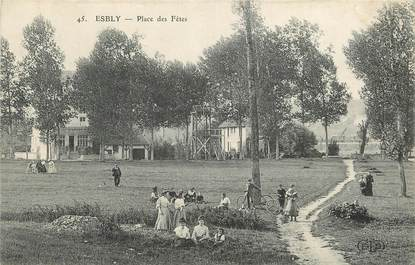 "CPA FRANCE 77  ""Esbly, Place des Fêtes"""