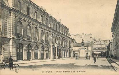 """.CPA  FRANCE 21 """"Dijon, Place Rameau et le Musée"""""""