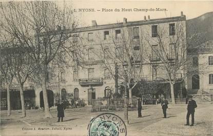 """. CPA  FRANCE  26 """"Nyons, Place du haut Champ de Mars"""""""