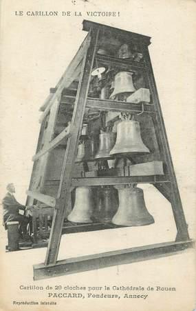 """. CPA  FRANCE  76 """" Rouen, Carillon de 29 cloches pour la cathédrale"""""""