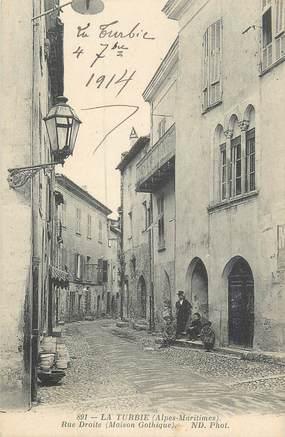""".CPA  FRANCE 06 """" La Turbie, Rue droite, maison gothique"""""""
