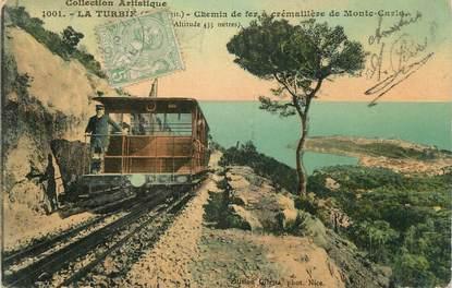 """.CPA  FRANCE 06 """" La Turbie,  Chemin de fer à crémaillère de Monte Carlo"""""""