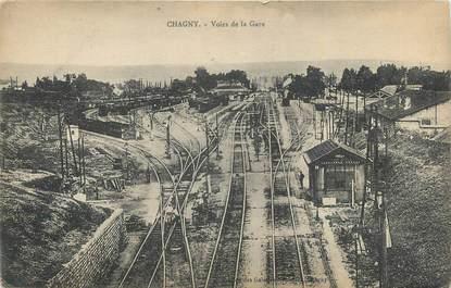 """.CPA  FRANCE 71 """"Chagny,  Voies de la gare"""""""