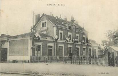""".CPA  FRANCE 71 """"Chagny,  La gare  """""""