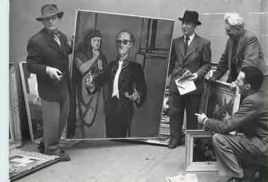 """PHOTO ORIGINALE / THEME ART """"Salon des indépendants au Grand Palais, 1952"""""""