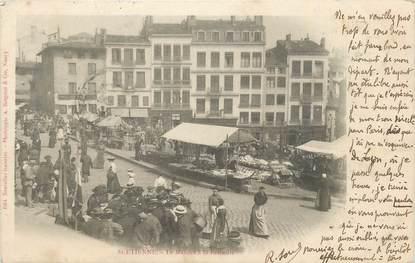 """.CPA  FRANCE 42 """"St Etienne, Le marché à la Ferraille"""""""