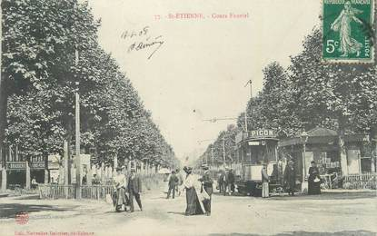 ".CPA  FRANCE 42 ""St  Etienne,  Cours Fauriel"" / TRAM"