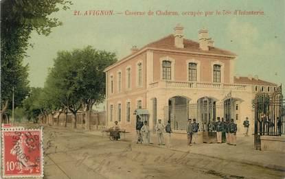 """.CPA  FRANCE 84 """" Avignon, Caserne de Chabran occupée par le 58ème d'infanterie"""""""
