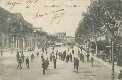 """.CPA  FRANCE 84 """"  Avignon, Place de l'Horloge  """""""