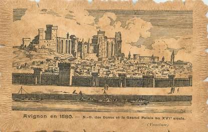 """.CPA  FRANCE 84 """"  Avignon en 1580, Notre Dame des Doms et le Grand Palais au XVIème siècle"""""""