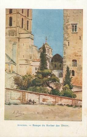 """.CPA  FRANCE 84 """"  Avignon, Rampe du Rocher des Doms"""""""