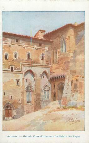""".CPA  FRANCE 84 """"  Avignon, Grande cour d'honneur du Palais des Papes"""""""