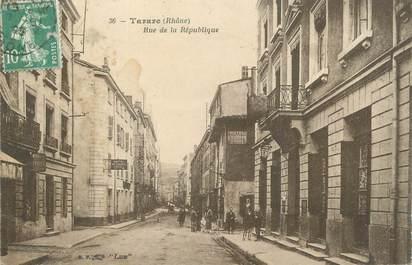 """.CPA   FRANCE 69 """" Tarare, Rue de la République"""""""