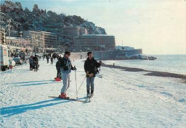 "CPM FRANCE 06 ""Nice, sous la neige en 1985"" / SKI"