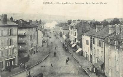 """. CPA FRANCE 15 """"Aurillac, Panorama de la Rue des Carmes"""""""