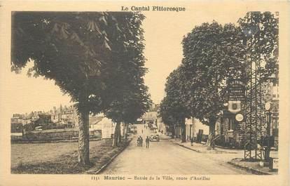 """. CPA  FRANCE 15 """"Mauriac, Entrée de la ville, route d'Aurillac"""""""