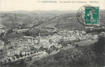 """. CPA  FRANCE 15  """"St Flour, Vue générale sur le faubourg"""""""
