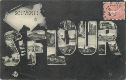 """. CPA  FRANCE 15  """"St Flour, Souvenir de St Flour"""""""