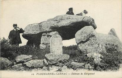 "CPA FRANCE 56 ""Plouharnel Carnac, Dolmen de Kergavad"""