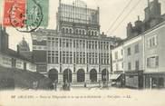 """45 Loiret . CPA FRANCE 45 """"Orléans, Postes et Télégraphes et rue de la Hallebarde"""""""