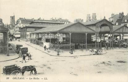 """. CPA FRANCE 45 """"Orléans, Les halles  """""""