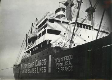 """PHOTO ORIGINALE / THEME """"1947, New York, le bateau de l'Amitié en route pour l'Europe"""""""
