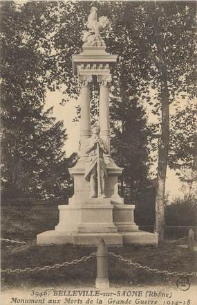 """. CPA  FRANCE 69 """"Belleville sur Saône, Monument aux morts"""""""